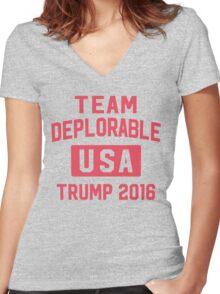 Team Deplorable Women's Fitted V-Neck T-Shirt