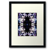 Black and Purple Portrait Framed Print