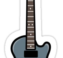 Gray Guitar Sticker Sticker
