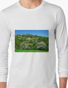 May Blossom near Thorpe in Derbyshire Long Sleeve T-Shirt