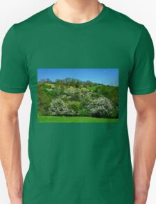 May Blossom near Thorpe in Derbyshire Unisex T-Shirt