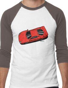 Berlinetta Rosso F40 Red Men's Baseball ¾ T-Shirt