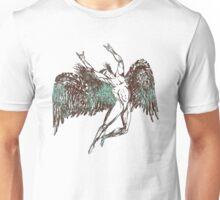 ICARUS THROWS THE HORNS - aqua grunge Unisex T-Shirt