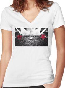 Space Dandy Dropkix Merch Women's Fitted V-Neck T-Shirt