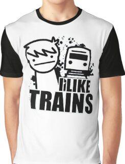 I like Trains Graphic T-Shirt