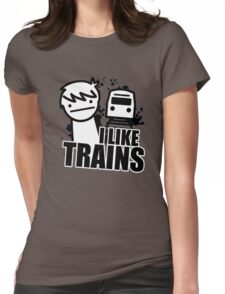 I like Trains Womens Fitted T-Shirt