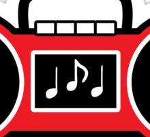 80's Red Retro Boom Box Sticker