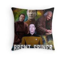 Brent Spiner feat. Brent Spiner and Brent Spiner, A Movie by Brent Spiner Throw Pillow