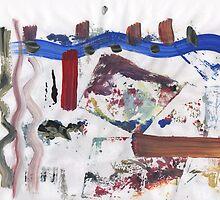 BLUE CAR IN FIRE(C2016) by Paul Romanowski