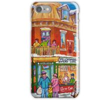 CLASSIC PLATEAU MONT ROYAL CORNER STORE MONTREAL WINTER SCENE iPhone Case/Skin