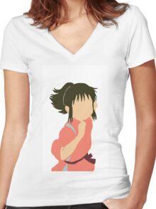Chihiro  Women's Fitted V-Neck T-Shirt