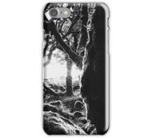Black and White Shot of Ancient Whistman's Wood at Sunrise (Dartmoor NP, England) iPhone Case/Skin
