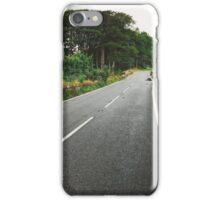 Dartmoor National Park - Cement Road on Rainy Day (Devon, England) iPhone Case/Skin
