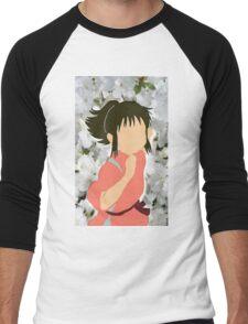 Chihiro Peonies Men's Baseball ¾ T-Shirt