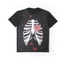 Rosen-Herz Skelett Graphic T-Shirt