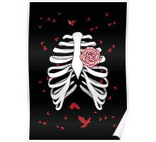 Rosen-Herz Skelett Poster