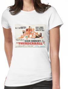 James Bond - Thunderball Movie Poster Womens Fitted T-Shirt