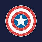 Captain America - Stylised Shield by Isabella Brown