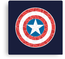 Captain America - Stylised Shield Canvas Print