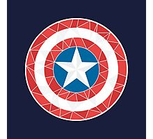 Captain America - Stylised Shield Photographic Print