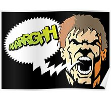 Shouting man Poster