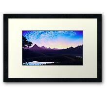 Pixel Art Nature Scene Framed Print