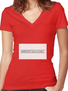 Amelia's Anatomy Women's Fitted V-Neck T-Shirt