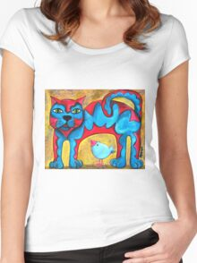Catius Maximus and the little Blue Bird  Women's Fitted Scoop T-Shirt