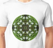 Circle 5: Flowers of White, Leaves of Green Unisex T-Shirt