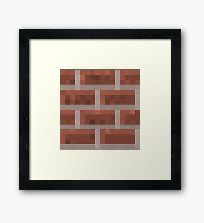 Minecraft Brick Framed Print
