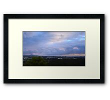 Morning Clouds Over The Sunshine Coast Framed Print