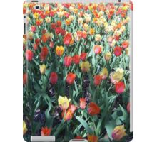 Field of Red and Yellow Tulips iPad Case/Skin