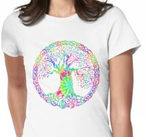 CELTIC KNOTS TREE OF LIFE - tie dye Womens Fitted T-Shirt
