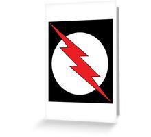 Black Flash Greeting Card