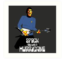 Spock You (White Font) Art Print