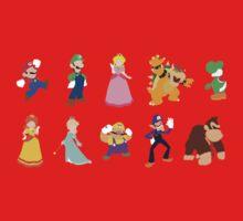 Minimalist Mario Party Kids Tee