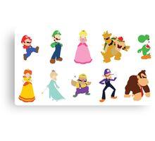 Minimalist Mario Party Canvas Print