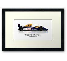 Riccardo Patrese - Williams Renault FW14 Framed Print