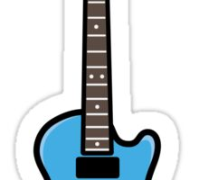 Blue Guitar Sticker Sticker