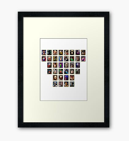 Mortal Kombat 3 Trilogy Character Select Framed Print