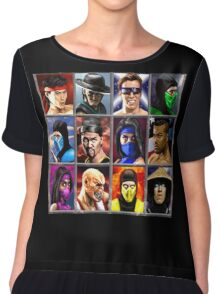 Mortal Kombat 2 Character Select Chiffon Top