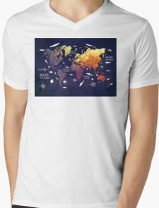 world map 11 Mens V-Neck T-Shirt