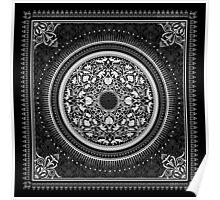Indigo Home Medallion - White Poster