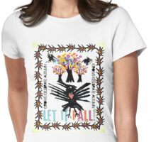 crow autumn Womens Fitted T-Shirt