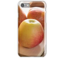 Autumn harvest of apples and pears iPhone Case/Skin