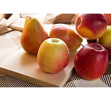Autumn harvest of apples and pears Photographic Print