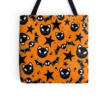 Bats and Cats (orange) Tote Bag