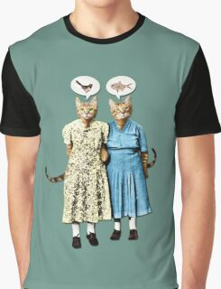 Two Cool Kitties: What's for Lunch? Graphic T-Shirt