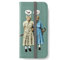 Two Cool Kitties: What's for Lunch? iPhone Wallet/Case/Skin
