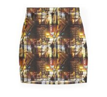 Rain-Soaked City Street Mini Skirt